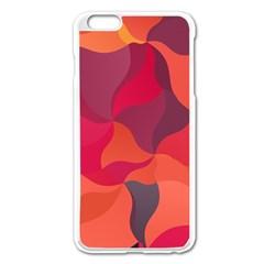 Red Orange Yellow Pink Art Apple Iphone 6 Plus/6s Plus Enamel White Case