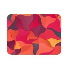 Red Orange Yellow Pink Art Double Sided Flano Blanket (mini)
