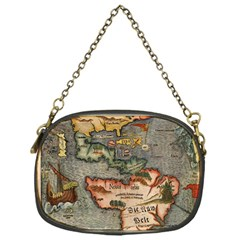 Vintage Map Chain Purses (one Side)
