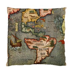 Vintage Map Standard Cushion Case (one Side)