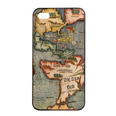 Vintage Map Apple Iphone 4/4s Seamless Case (black)