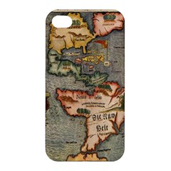Vintage Map Apple Iphone 4/4s Hardshell Case