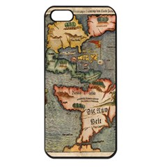 Vintage Map Apple Iphone 5 Seamless Case (black)