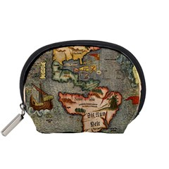 Vintage Map Accessory Pouches (small)