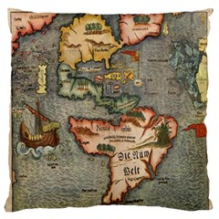 Vintage Map Standard Flano Cushion Case (one Side)