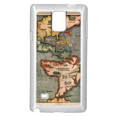 Vintage Map Samsung Galaxy Note 4 Case (white)