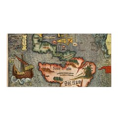 Vintage Map Satin Wrap
