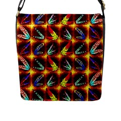 Feathers Flap Messenger Bag (l)