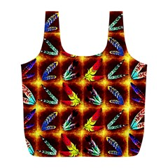 Feathers Full Print Recycle Bags (l)