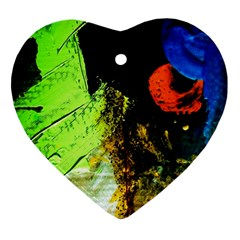 I Wonder 1 Heart Ornament (two Sides)