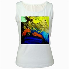 I Wonder 2 Women s White Tank Top