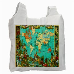 Vintage Map 1 Recycle Bag (one Side)