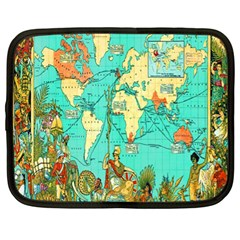 Vintage Map 1 Netbook Case (xl)