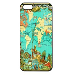 Vintage Map 1 Apple Iphone 5 Seamless Case (black)