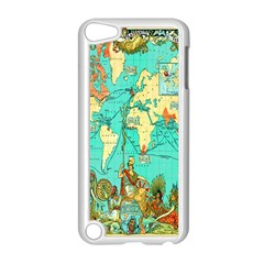 Vintage Map 1 Apple Ipod Touch 5 Case (white)