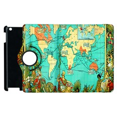 Vintage Map 1 Apple Ipad 2 Flip 360 Case