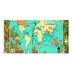 Vintage Map 1 Satin Shawl