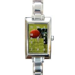 Pumpkins 10 Rectangle Italian Charm Watch