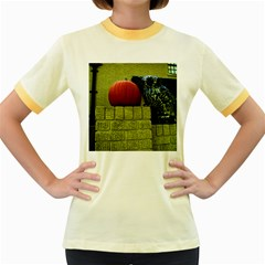 Pumpkins 10 Women s Fitted Ringer T Shirts