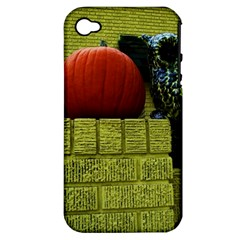 Pumpkins 10 Apple Iphone 4/4s Hardshell Case (pc+silicone)