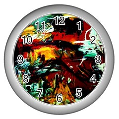Grand Canyon Sunset Wall Clocks (silver)