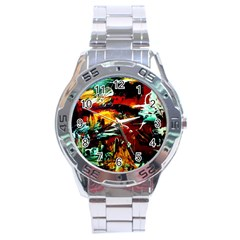 Grand Canyon Sunset Stainless Steel Analogue Watch