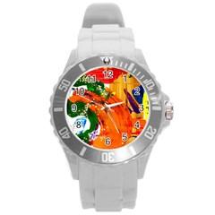 In Mediterrainean Round Plastic Sport Watch (l)