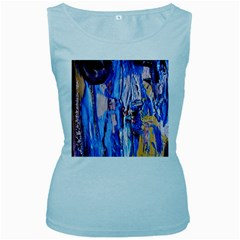 Point Of View 3/1 Women s Baby Blue Tank Top