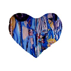 Point Of View 3/1 Standard 16  Premium Flano Heart Shape Cushions by bestdesignintheworld