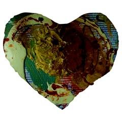 Doves Matchmaking 2 Large 19  Premium Heart Shape Cushions