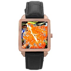 Smashed Butterfly 6 Rose Gold Leather Watch