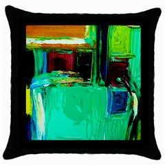 Marakesh 9 Throw Pillow Case (black) by bestdesignintheworld