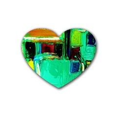 Marakesh 9 Rubber Coaster (heart)  by bestdesignintheworld