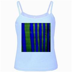 Stripes 4 Baby Blue Spaghetti Tank