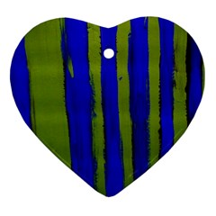 Stripes 4 Heart Ornament (two Sides)