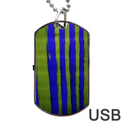 Stripes 4 Dog Tag Usb Flash (two Sides)