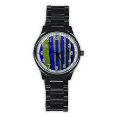 Stripes 4 Stainless Steel Round Watch