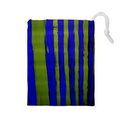 Stripes 4 Drawstring Pouches (large)  by bestdesignintheworld