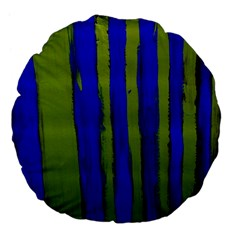 Stripes 4 Large 18  Premium Flano Round Cushions