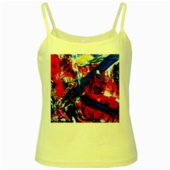 Mixed Feelings 9 Yellow Spaghetti Tank
