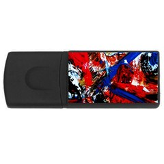 Mixed Feelings 9 Rectangular Usb Flash Drive