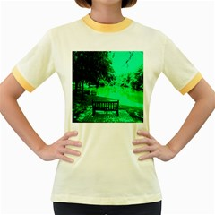 Lake Park 20 Women s Fitted Ringer T Shirts