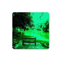 Lake Park 20 Square Magnet by bestdesignintheworld