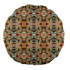 Artwork By Patrick Colorful 31 Large 18  Premium Flano Round Cushions