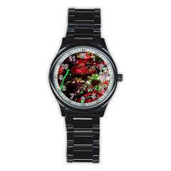 Bloody Coffee 2 Stainless Steel Round Watch