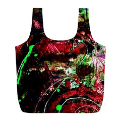 Bloody Coffee 2 Full Print Recycle Bags (l)  by bestdesignintheworld