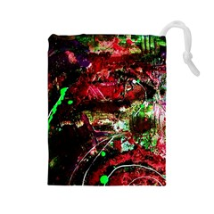 Bloody Coffee 2 Drawstring Pouches (large)