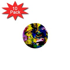 Yellow Roses 2 1  Mini Buttons (10 Pack)