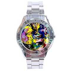 Yellow Roses 2 Stainless Steel Analogue Watch