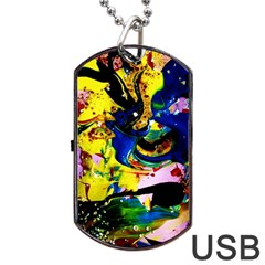 Yellow Roses 2 Dog Tag Usb Flash (two Sides)